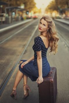 ☺ Linxspiration - #blue #dress