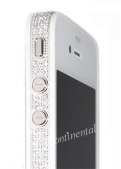 iPhone 4S 32GB Pearl White Platinum and Diamond Luxury Mobile Phone