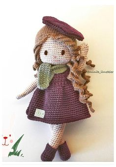 This Pin was discovered by Goe Crochet Amigurumi, Amigurumi Patterns, Amigurumi Doll, Doll Patterns, Crochet Patterns, Knitted Dolls, Crochet Dolls, Cute Crochet, Crochet Baby