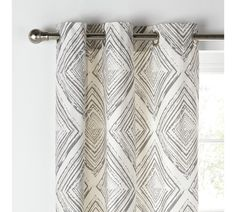 f1de62fca6 Buy Collection Diamond Distressed Lined Curtains -117x137- Grey at Argos .co.uk