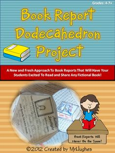 This amazing 26 page BOOK REPORT project will have your students turn 12 circles they have completed with different assignments and projects into a geometrical wonder- the Dodecahedron. BOOK REPORTS WILL NEVER BE THE SAME AGAIN! ($)