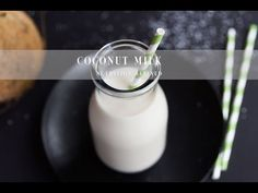 Make your own fresh and clean coconut milk using either fresh coconuts or dried shredded coconut. It's easy, quick, and so much cheaper than store-bought. Strawberry Nutrition Facts, Coconut Milk Nutrition, Pasta Nutrition, Broccoli Nutrition, Nutrition Tips, Coconut Milk Uses, Coconut Manna, Coconut Milk Recipes