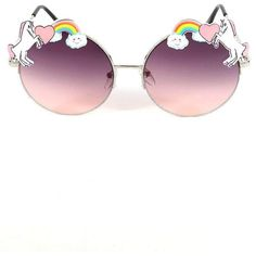 UNICORN FANTASY SUNGLASSES (€5,92) ❤ liked on Polyvore featuring accessories, eyewear, sunglasses, circle glasses, circle lens glasses, crown sunglasses, rainbow glasses and metal frame glasses