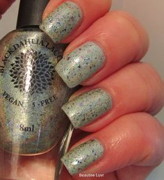 Black Dahlia Lacquer Mint Sprig Frost over Texas Ice Flower