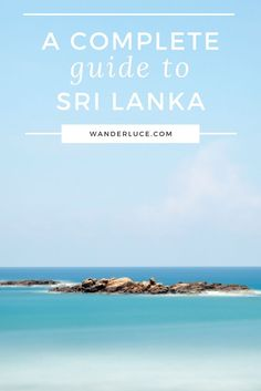 A lovely and complete guide to Sri Lanka. Full of what to do, what to see, and more!