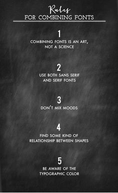 Top 5 Rules For Combining Fonts