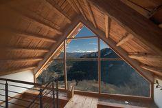 glass gable - Home Decor Ideas DIY Style At Home, Triangle Window, Gable Window, Tiny House Loft, Casas Containers, Dormer Windows, A Frame House, Spanish House, Attic Rooms