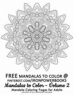 Free Advanced Mandala Coloring Pages for Adults | For more 49 Mandala Coloring Illustration, please visit http://www.amazon.com/Mandalas-Color-Mandala-Coloring-Adults/dp/1495387631 | It will be awesome to share your colored works with us! Follow @ironpowerbooks for more free Coloring Pages everyday!! | Art as Therapy  | Please use freely for personal non-commercial use