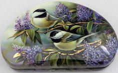 ** Porcelánová krabička - malovaní ptáčci **
