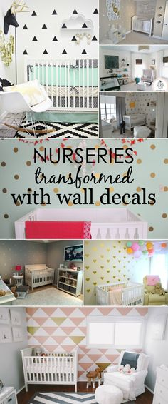Simple, removable wall decals can totally transform a nursery! Here are 9 of our favorites. | Project Nursery