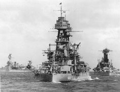 USS Arizona, 1934 - sunk at Pearl Harbor on 7 December 1941 with heavy loss of life.