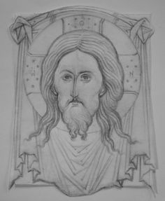 Religious Images, Religious Icons, Religious Art, Fortune Cards, Small Icons, Tattoo Flash Art, Byzantine Icons, Cartoon Sketches, Art Icon