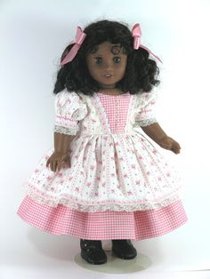 American Girl Doll Clothes Cecile 1850s Dress by LidiDesigns