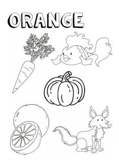 Color Activities For Toddlers, Color Worksheets For Preschool, Preschool Coloring Pages, Toddler Learning Activities, Colouring Pages, Coloring Sheets, Preschool Activities, Coloring Worksheets, Kindergarten Colors