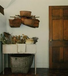 in a farm house you legitimately need baskets. one more reason.