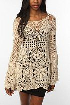 This looks more like a shirt than a dress, but I like it regardless! UNIF Crochet Bell Sleeve Dress  #UrbanOutfitters