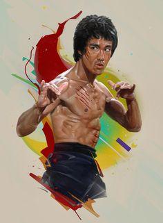 Bruce Lee Poster, Bruce Lee Art, Bruce Lee Martial Arts, Bruce Lee Quotes, Martial Arts Styles, Martial Arts Movies, Bruce Lee Pictures, Bruce Lee Movies, Hero Movie