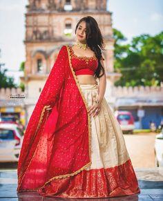 Half Saree Designs, Fancy Blouse Designs, Bridal Blouse Designs, Stylish Dress Designs, Stylish Dresses, Brocade Blouse Designs, Brocade Blouses, Half Saree Lehenga, Lehenga Saree Design