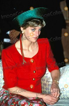 FEBRUARY 10 1992 Princess Diana visits visits the President's official residence in New Delhi, India.