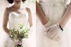 White and green bouquet.  www.comobranco.com @marryinportugal #comobranco