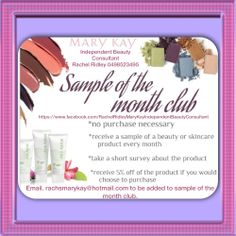 Want to receive a sample product each month? Email me with your contact details to be added to my sample of the month club. Australia only.