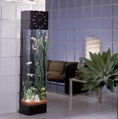 Fish tank clock...  I always wanted a fish tank in my waiting room - this could be a cool way to do it! :)