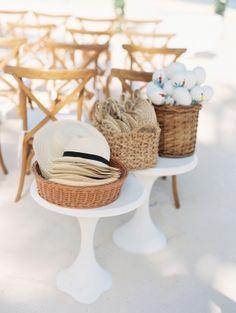 Beach-themed favors: http://www.stylemepretty.com/destination-weddings/2015/08/18/romantic-barefoot-beachfront-tulum-wedding/ | Photography: Michelle Boyd - michelleboydphotography.com