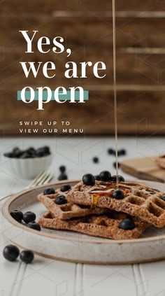 Yes, We are Open Cafe Graphic Template Instagram Feed, Creative Instagram Stories, Instagram Design, Instagram Story Ideas, Food Graphic Design, Food Poster Design, Menu Design, Food Design, Cafe Menu