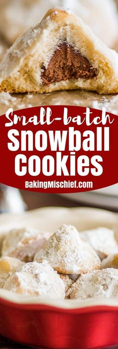 Snowball Cookies {small batch}