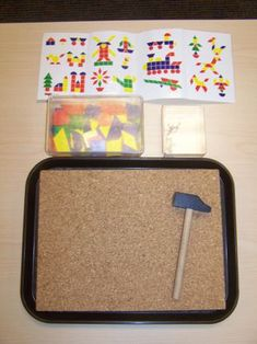 fine motor/math - hammering shapes for preschoolers