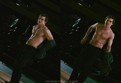 Michael C. Hall in Gamer. Also, he is shirtless. (p.s. I got this movie in blu-ray just to screencap this scene, so be on the look out for more shirtless pictures coming soooon!) ;)