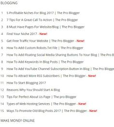 Create a Sitemap or Table of Contents in Blogger
