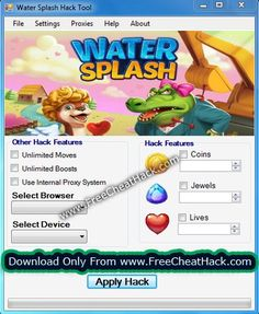 Water Splash Hack Cheats Tool  Water Splash Hack is Modhacks.com a new tool, that we all want to present to you. If you ever glimpse at all the other hacks on line, this amazing tool is the most effective. This specific tool was made to be functioning on Android os and iOS devices. That …