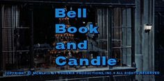 Movie typography from the film 'Bell Book and Candle' directed by Richard Quine, starring James Stewart, Kim Novak and Jack Lemmon. Haunted Movie, Kim Novak, Opening Credits, Title Card, Movie Titles, Tv Guide, Its A Wonderful Life, Classic Movies, Great Movies
