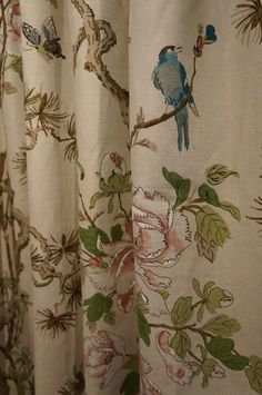 The gorgeous peony and blossom fabric from GP&J Bakers Crayford collection