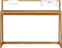 $449 - TLD desk in office furniture | CB2 cb2, layout idea, offic furnitur, offices, tld desk, desks, industrial design, furniture, desk layout