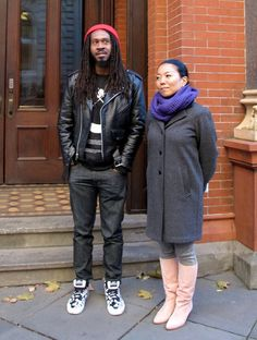 Rico Washington (left) and Shino Yanagawa once lived in public housing. Their exhibit profiling current and former public housing residents, We The People, is on display at the Brooklyn Historical Society until March 11.