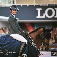 Are they both smiling? 😊😊 #winners #athinaonassishorseshow #stropez @penelope_leprevost_officiel