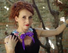 Mulberry Whisper: Lovisetto Butterfly Bib Necklace and Peter Pan Col...