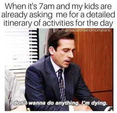 """19 Memes About """"The Office"""" That Are Too Damn Funny If You Have Kids - Parenting humor - Funny Memes About Life, Funny Mom Memes, Funny Fails, Funny Texts, Funny Quotes, Memes For Moms, Top Memes, Funny Shit, The Funny"""
