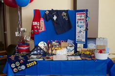 Scout display tables great for Cub Scout recruitment nights/school open house displays