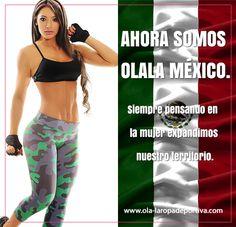 Ahora somos territorio Mexicano. Siempre pensando en la mujer expandimos nuestro territorio. Ahora somos OLALA MÉXICO.  Visita nuestra fan page: https://www.facebook.com/olalaropadeportivamexico?fref=ts  Contáctanos por Whatsapp 6643146376.  #México #Olalaropadeportiva #Fashion #Ecommerce #Online