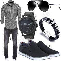 Herrenoutfit mit kariertem Hemd, Jeans und Sonnenbrille #hemd #jeans #fossil #armbanduhr #outfit #style #herrenmode #männermode #fashion #menswear #herren #männer #mode #menstyle #mensfashion #menswear #inspiration #cloth #ootd #herrenoutfit #männeroutfit #mann #gentlemen
