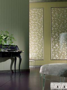 Wandgestaltung Wohnzimmer Mit Tapete Beispiele | Wandgestaltung Mit Tapeten  Designer Tapeten Kleines Bad Einrichten .