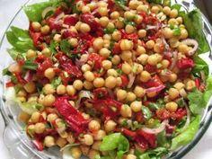 Salata de naut cu ardei kapia copti(chickpea salad with roasted pimiento), Rețetă Petitchef