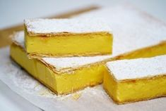 RECIPES with leftover egg yolks, turn them into these delicious desserts, sauces and sides. Peppermint Slice, Jelly Slice, Delicious Desserts, Dessert Recipes, Cheesecake Recipes, Cookie Recipes, Yummy Food, Coconut Slice, Buttery Biscuits