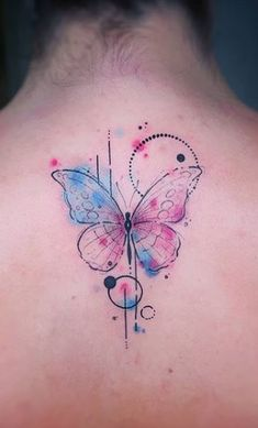 Watercolor Butterfly Tattoo, Colorful Butterfly Tattoo, Butterfly Wrist Tattoo, Dragonfly Tattoo Design, Cute Tattoos For Women, Wrist Tattoos For Women, Tattoo Designs For Women, Mommy Tattoos, Body Art Tattoos