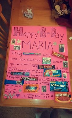 Birthday poster for friend christmas Ideas - Birthday Gift Birthday Gifts For Bestfriends, Birthday Presents For Friends, Cute Birthday Gift, 16th Birthday Gifts, Birthday Crafts, Friend Birthday Gifts, Best Friend Gifts, Happy Birthday, Birthday Stuff