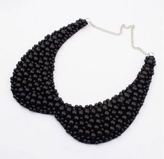 Fashion Sweet Women Fake Collar Necklace Black And White Imitation Pearls Choker Necklace For Women Collier Femme Beaded Choker Necklace, Crystal Choker, Black Necklace, Collar Necklace, Choker Collier, Necklace Hanger, Choker Jewelry, Leather Necklace, Charm Jewelry