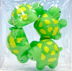Four Green Turtle Squirt Toys